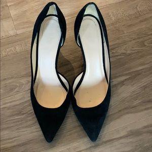 J crew black heels- hardy worn!